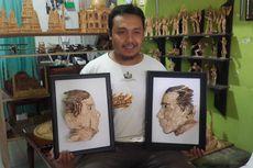 Meriahkan Pemilu, Khilmi Buat Miniatur Jokowi dan Prabowo dari Batang Korek Api