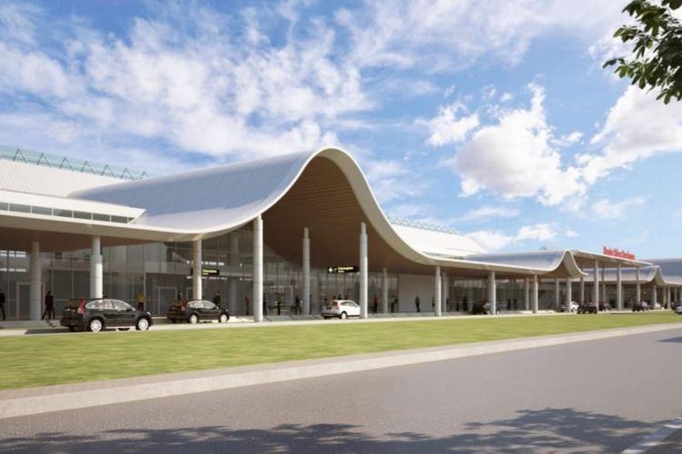 Desain Bandara Jenderal Besar Soedirman di Purbalingga, Jawa Tengah, mengadopsi konsep dynamic meets geometric.