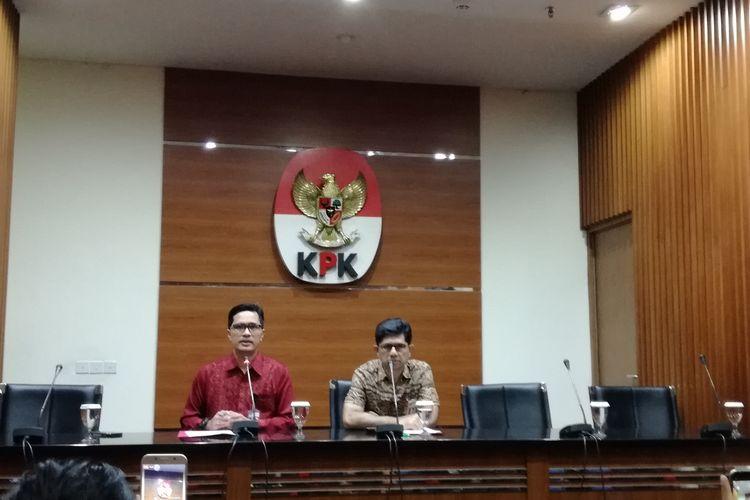 Juru Bicara KPK Febri Diansyah dan Wakil Ketua KPK Laode M Syarif