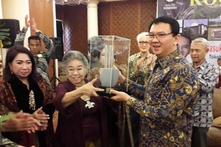 Ahok saat terima piagam penghargaan Roosseno Award pada Senin (22/07/2019)