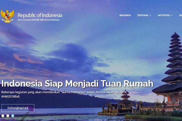 Indonesia siap menjadi tuan rumah IMF-WBG Annual Meetings 2018.