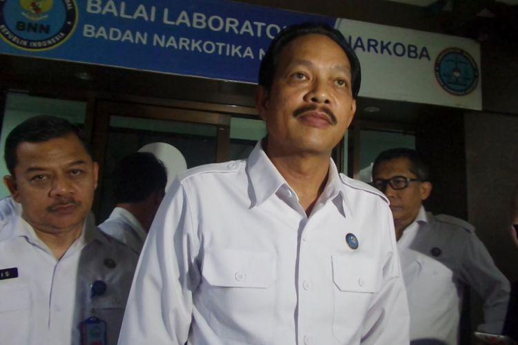 Kabag Humas BNN Sulistiandriatmoko di Gedung BNN Cawang, Jakarta Timur, Senin (27/3/2017).