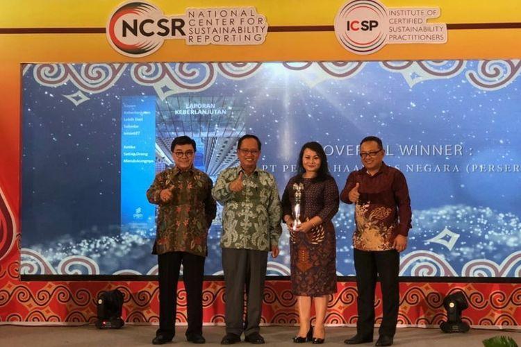 PGN Raih Gelar Juara Umum  Sustainability Reporting 2017 dari NCSR