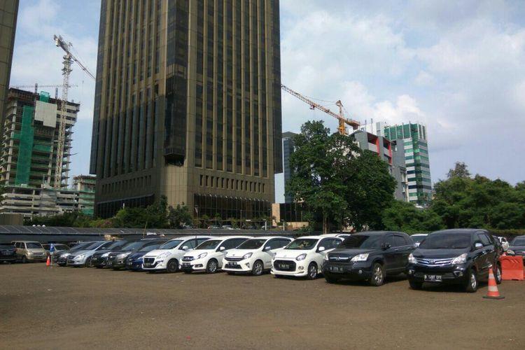 Kondisi Thamrin Park and Ride di Jalan MH Thamrin, Jakarta Pusat.