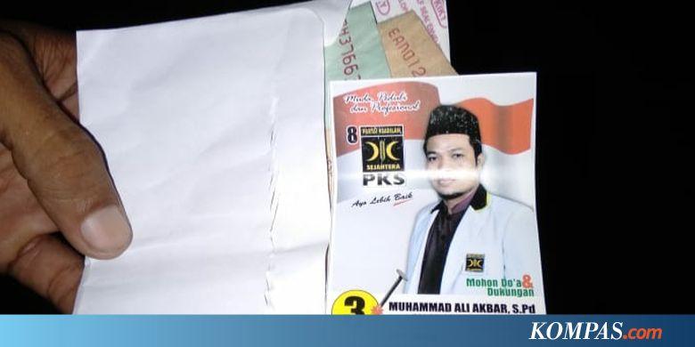 Alasan untuk Konsumsi, Caleg PKS Tertangkap Tangan Bagi-bagi Uang di Masa Tenang