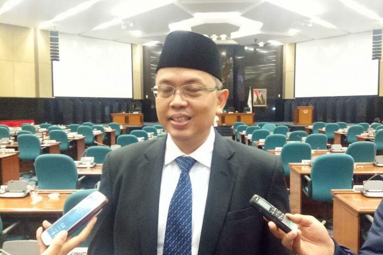 Wakil Ketua DPRD DKI Jakarta Triwisaksana di Gedung DPRD DKI Jakarta, Jalan Kebon Sirih, Rabu (26/7/2017).