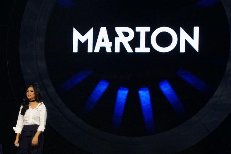 Kontestan Marion Jola di panggung Indonesian Idol sesion 9 yang digelar di Studio 11, MNC Studios, Kebon Jeruk, Jakarta Barat, Senin (22/1/2018).