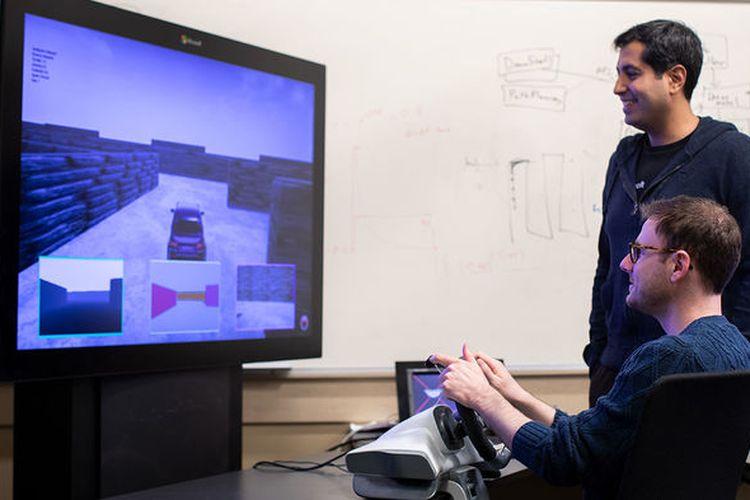 Program simulasi mengemudi yang mencatat respon rasa takut manusia untuk dipelajari kecerdasan buatan.