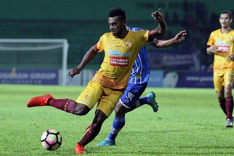 Penampilan Marco Sandy saat bermain untuk sriwijaya FC
