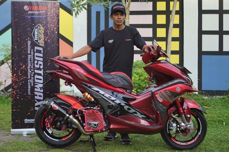 Deddi Hidayat pemilik Aerox pemenang CustoMAXI Banjarmasin