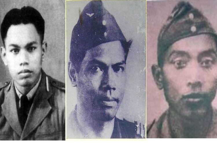 Adisutjipto, Abdul Rachman Saleh, dan Adi Sumarmo.