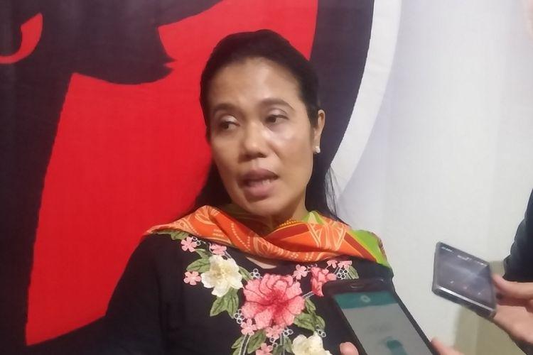 Sekretaris PDI-P Jawa Timur Sri Untari. PDI-P pastikan dukung Saifullah Yusuf (Gus Ipul) - Abdullah Azwar Anas di Pilkada Jatim 2018.