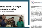 Pokja SBMPTN Minta Netizen Tidak Usah Kuatir Soal Sistem Penilaian