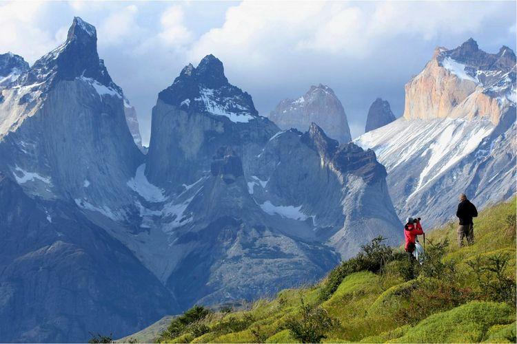 Pegunungan Andes di Chile.