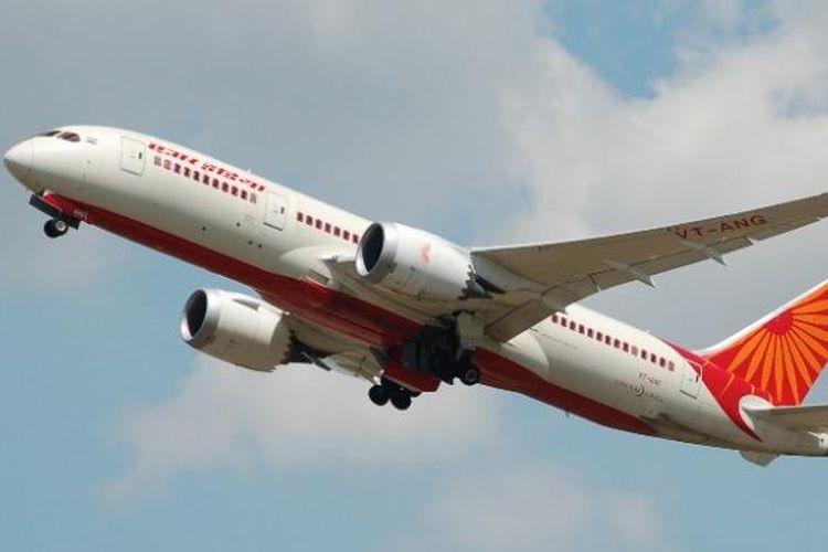 Sebuah Boeing 787 Dreamliner milik maskapai penerbangan Air India.