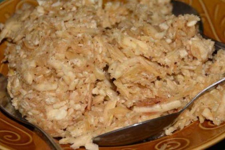 Jojong Dao, makanan khas di Manggarai Timur, NTT, yang terbuat dari ubi kayu.