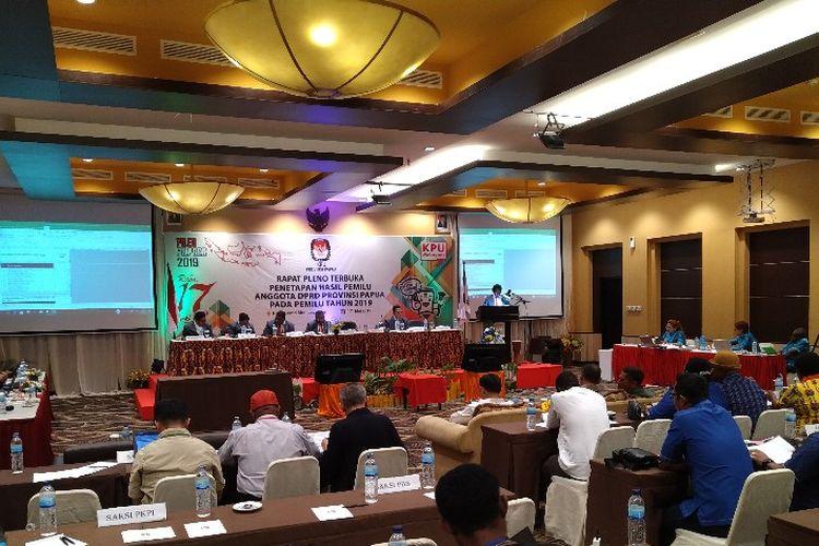 Pelaksanaan Rapat Pleno Terbuka Rekapitulasi Suara Provinsi Papua pada Pemilu 2019, di Kota Jayapura (19/05/2019)