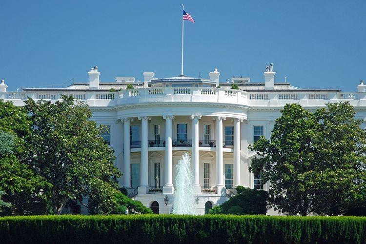 Gedung Putih di Washington DC, AS.