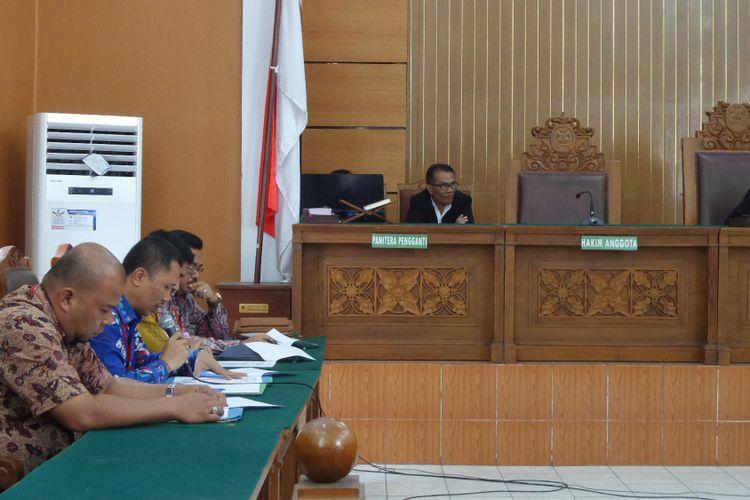 Sidang praperadilan Ketua DPR RI Setya Novanto di Pengadilan Negeri Jakarta Selatan, Rabu (20/9/2017).