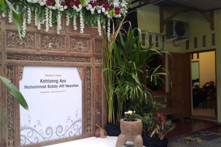 MEDIA CENTER --Inilah lokasi Media Center pernikahan Kahiyang-Bobby yang diperuntukkan untuk awak media yang akan meliput hajatan kedua Presiden Jokowi.