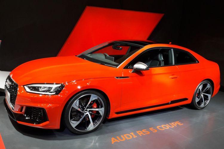 New Audi RS 5 Coupe yang diperkenalkan pada hari pembukaan Gaikindo Indonesia International Auto Show (GIIAS) 2018, di ICE, BSD City, Tangerang, Kamis (2/8/2018).