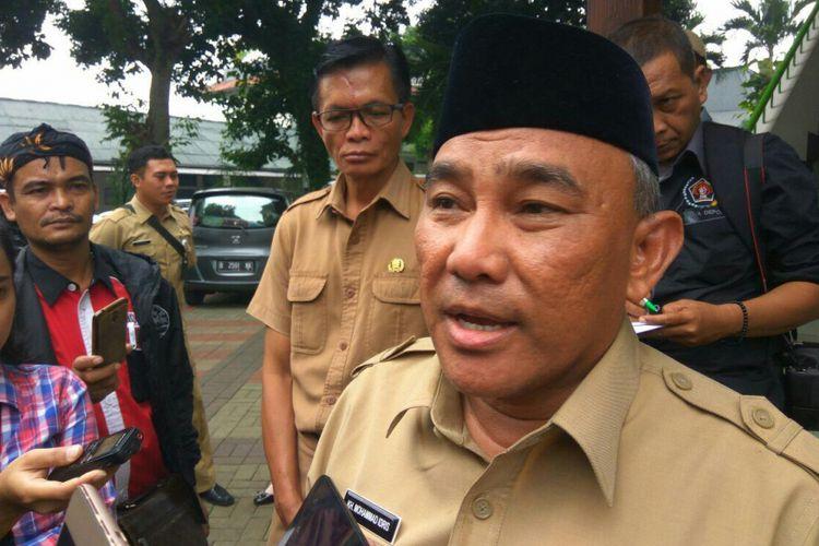 Walikota Depok, Muhammad Idris saat ditemui di kantor Walikota, Depok,Senin (19/2/2018).