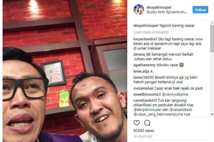 Lewat video singkat dalam akun komedian Eko Patrio, @ekopatriosuper, Caisar akhirnya mengungkapkan alasannya untuk kembali masuk ke dunia hiburan.