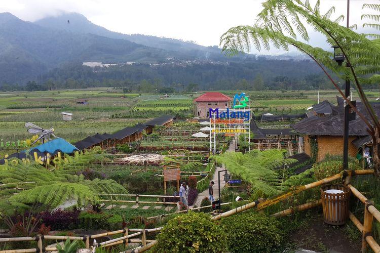Suasana Cafe Sawah di Desa Pujon Kidul, Kecamatan Pujon, Kabupaten Malang, Jumat (10/5/2019)