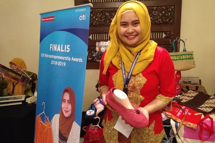 Dewi Arum Muqaddimah, Pemilik Usaha Rajut My Knitted Indonesia dalam wawancara dengan Kompas.com, Kamis (11/4/2019)