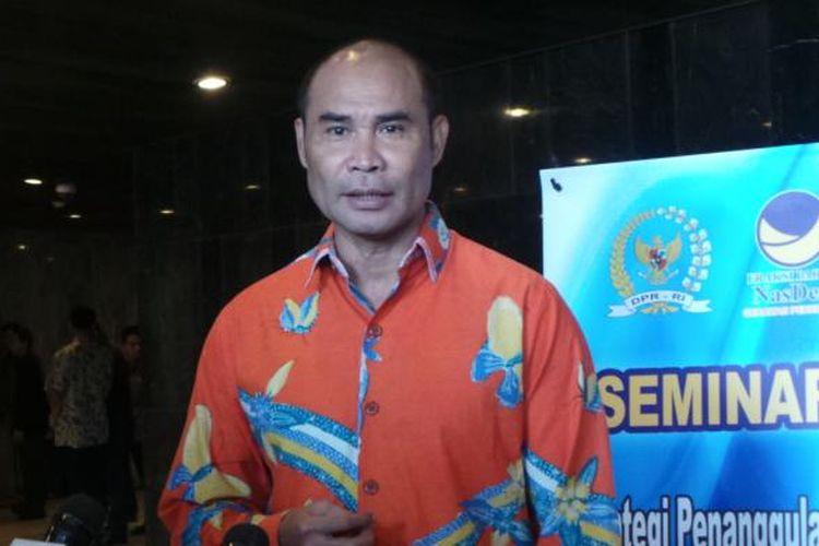 Victor Laiskodat saat masih menjabat sebagai Ketua Fraksi Partai Nasdem pada 2015.