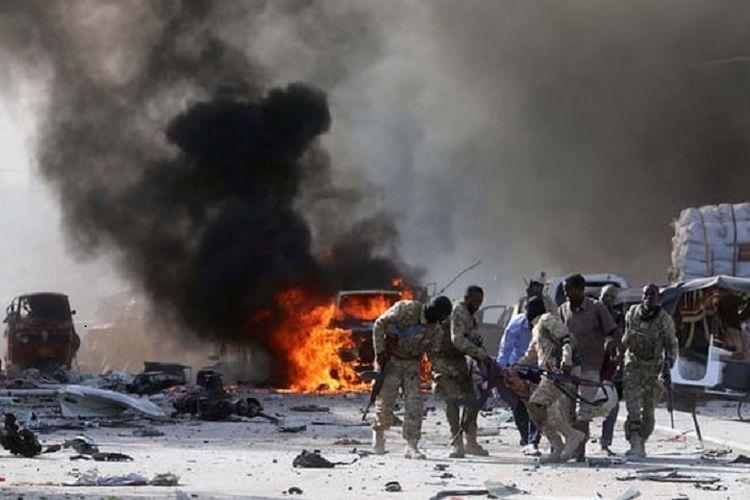 Bom truk meledak di Mogadishu, Somalia, pada Sabtu (14/10/2017) waktu setempat menyebabkan sedikitnya 20 orang tewas.