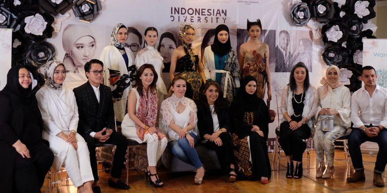 Konferensi pers keikutsertaan desainer Indonesia di ajang New York Fashion Week 2018.