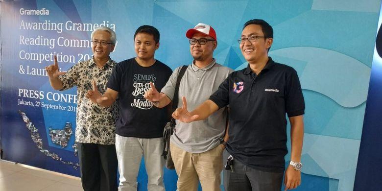 Konferensi pers diadakan PT. Gramedia Asri Media (27/9/2018) di Toko Buku Gramedia Matraman, Jakarta jelang acara puncak penghargaan Gramedia Reading Community Competition (GRCC) 2018 yang akan diadakan 28 September 2018 di Balai Kartini, Jakarta.
