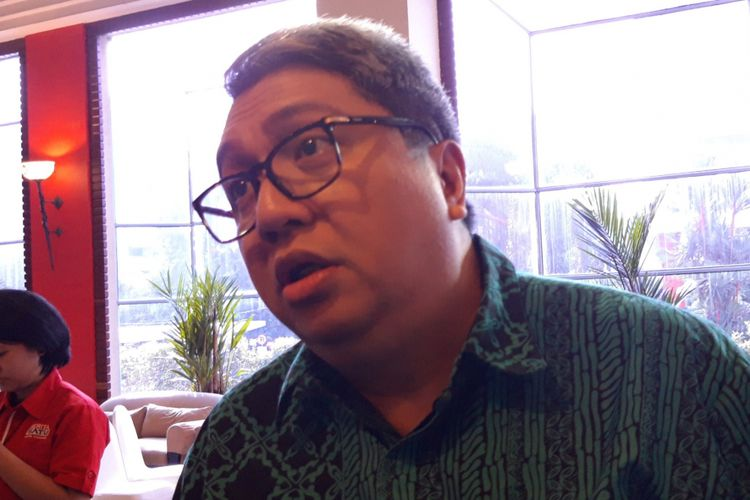 Ketua Umum Asosiasi Pengusaha Ritel Indonesia Roy Mandey sesuai acara diskusi Dilema Upah Minimum Sektoral Provinsi, Rabu (12/2/2019)
