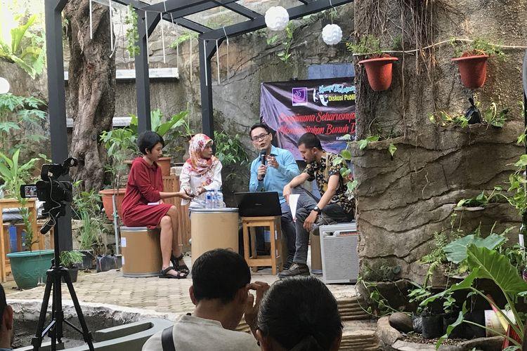 Diskusi media yang dilaksanakan di Kantor Aliansi Jurnalis Independen (AJI) , Kamis (14/3/2019) di Kantor AJI, Jalan Kalibata, Jakarta Selatan.