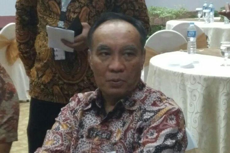 Pejabat Eksekutif Retail Banking Mandiri Donsuwan Simanjuntak di Plaza Mandiri, Jakarta, Senin (7/5/2018).