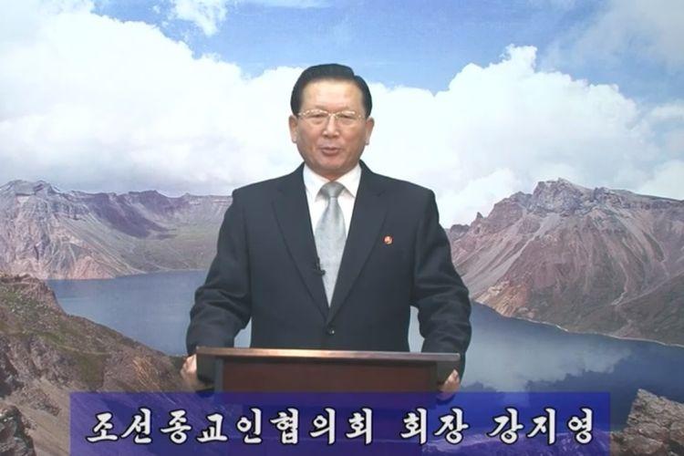 Potongan video ucapan Natal yang dikirimkan Korea Utara kepada Korea Selatan yang menampilkan Kang Ji Young, kepala kelompok agama Korea Utara.
