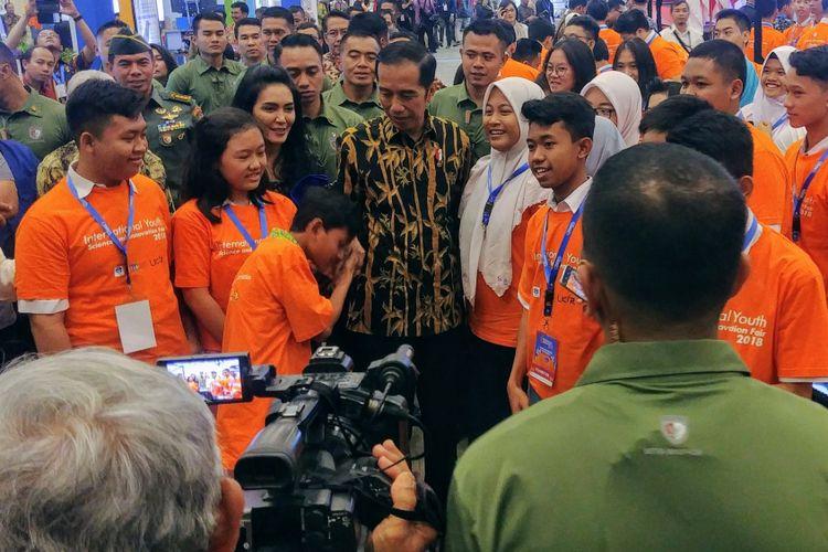 Presiden Jokowi saat membuka Indonesia Science Expo di ICE, BSD, Tangerang Selatan, Kamis (1/11/2018).