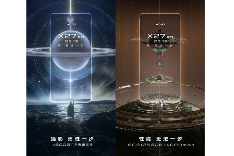 Ilustrasi poster peluncuran Vivo X27