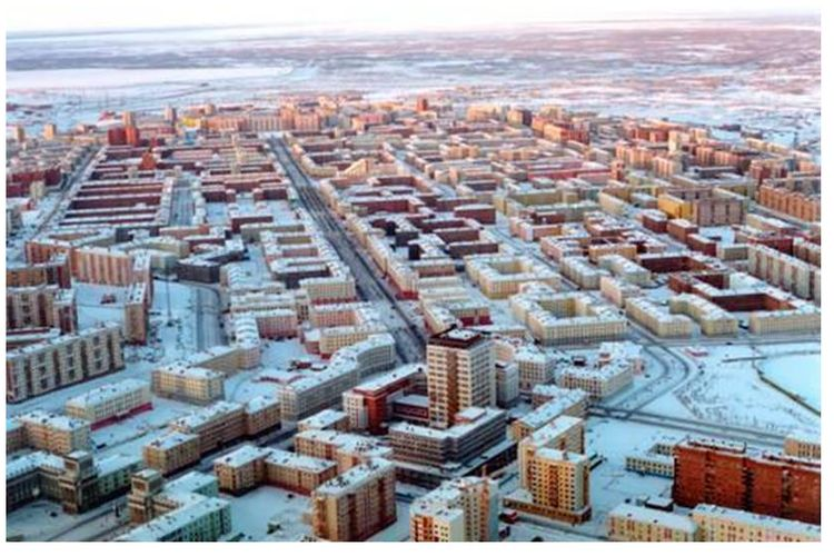 Salah satu pemandangan Kota Norilks, <a href='http://manado.tribunnews.com/tag/rusia' title='Rusia'>Rusia</a>