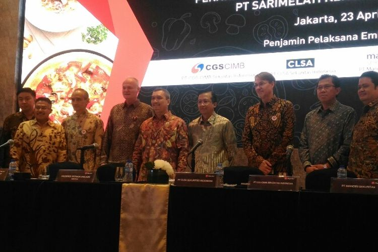 PT Sarimelati Kencana Tbk atau Pizza Hut Indonesia melepas 20 persen sahamnya ke publik, Senin (23/4/2018).