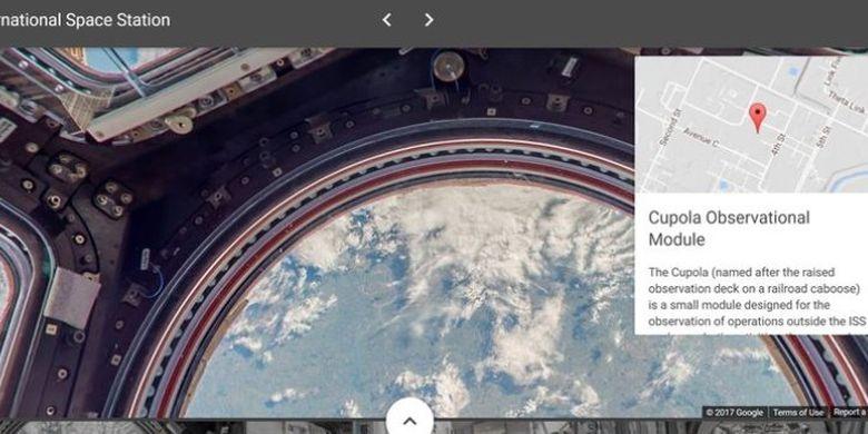 Ini isi ruangan The International Space Station (ISS) yang dijahit ulang Google Earth