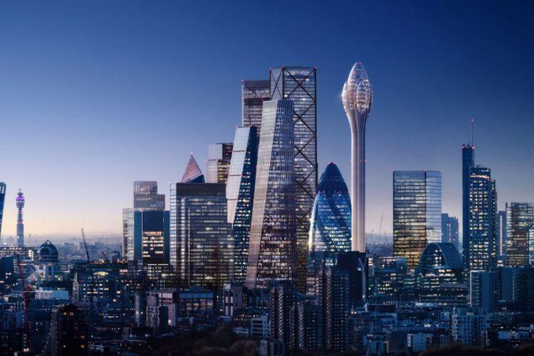 Foster + Partners merancang gedung berbentuk bunga tulip raksasa yang dirancang setinggi 305,3 meter