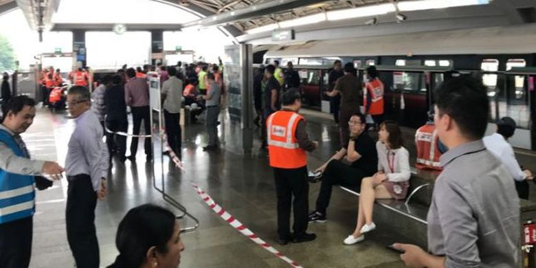 Situasi pasca kecelakaan MRT Singapura, Kamis (15/11/2017)