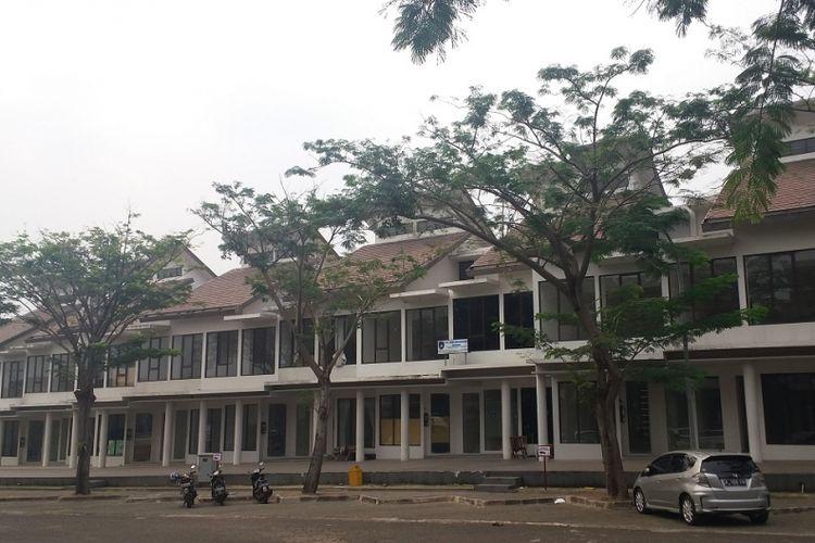 Kompleks ruko di Perumahan Casasima, Jagakarsa, Jakarta Selatan.