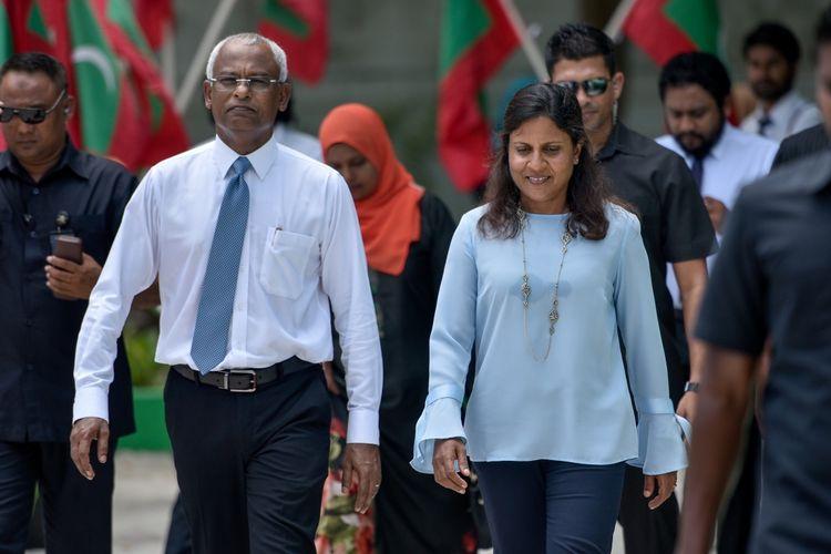 Presiden dan Ibu Negara Maladewa