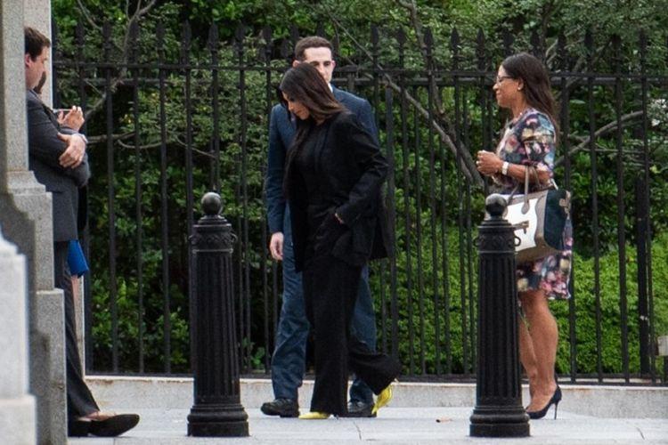 Kim Kardashian memasuki White House pada 30 Mei 2018 di Washington, DC. / AFP PHOTO / Mandel Ngan