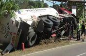 Truk Elpiji 13.000 Kg Terguling, Warga Panik karena Khawatir Tangki Meledak