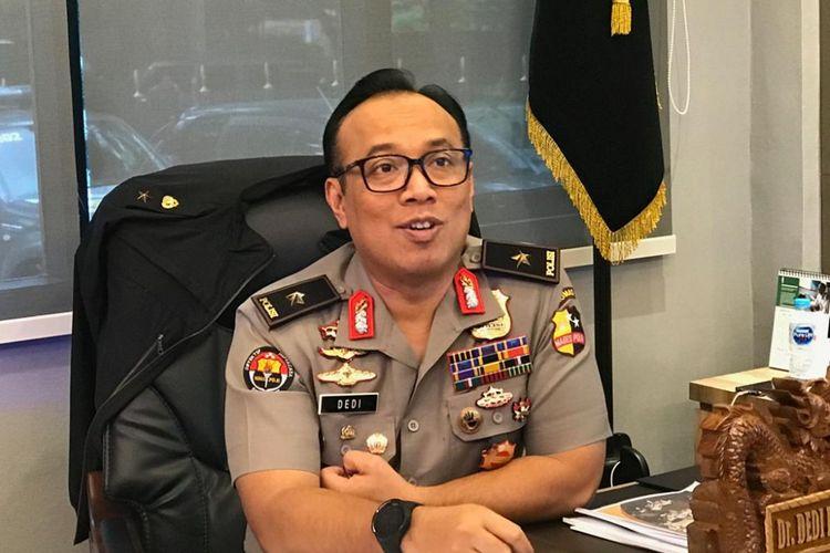 Kepala Biro Penerangan Masyarakat (Karo Penmas) Divisi Humas Polri Brigjen Dedi Prasetyo, saat ditemui di ruangannya, di Gedung Humas Mabes Polri, Jakarta Selatan, Senin (18/2/2019). ((KOMPAS.com/Devina Halim) )