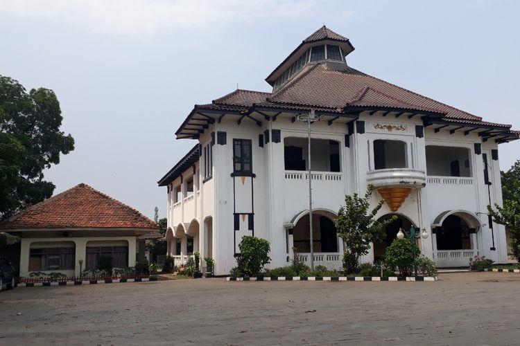 Tampak dari depan Gedung Juang Tambun, Jalan Raya Sultan Hasanudin, Tambun Selatan, Kabupaten Bekasi, Selasa (26/3/2019).